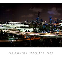 melbourne from the mcg at night (no stroke) by Gary Radler