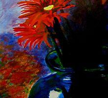 Red Flower /Blue case by Jennib