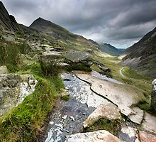 North Wales: Pass of Llanberis by Angie Latham