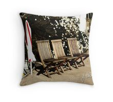 The Deck Chairs Throw Pillow