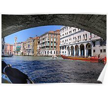 Under the bridge in Venice Poster
