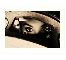 Eyes in the can Art Print