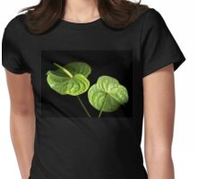 Green on Black Womens Fitted T-Shirt