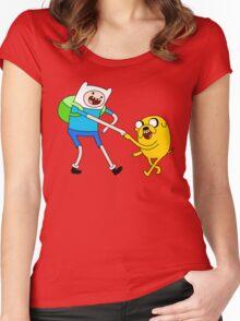 AAAAAADVENTURE TIME! Women's Fitted Scoop T-Shirt