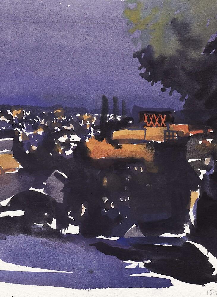 Brisbane at night by DamianCallanan