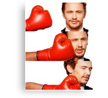 James Franco gets the humor knocked out of him Canvas Print