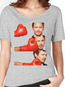 James Franco gets the humor knocked out of him Women's Relaxed Fit T-Shirt