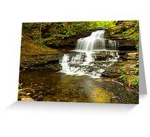 Onondago Waterfalls Greeting Card