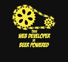 THIS WEB DEVELOPER IS BEER POWERED Unisex T-Shirt