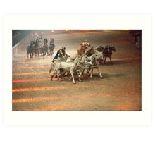 Ben Hur: The Chariot Race.  Art Print