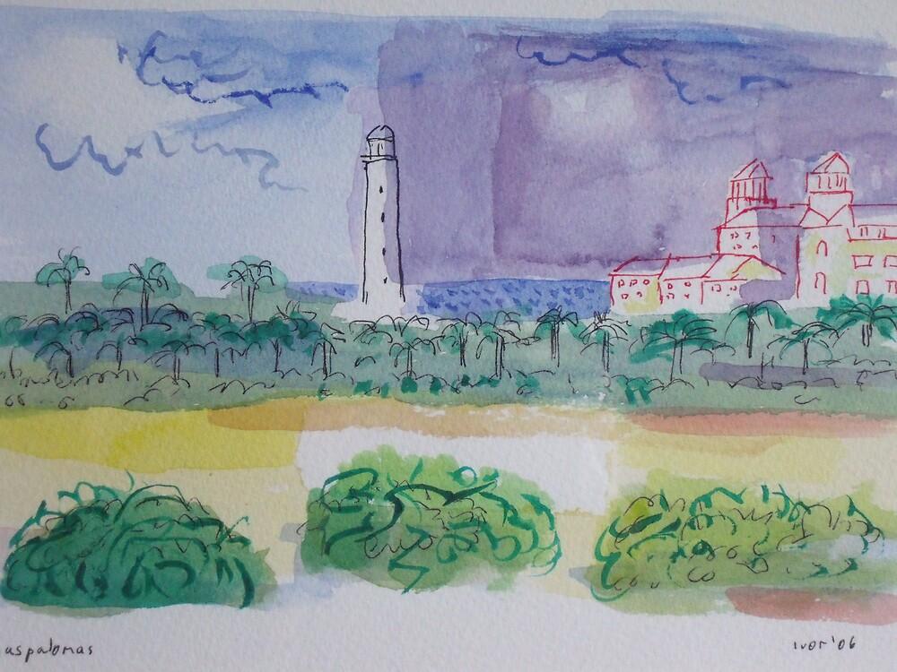 Maspalomas lighthouse by Ivor