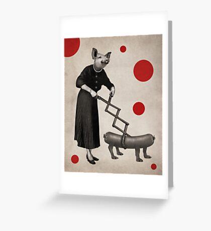 Anthropomorphic N°17 Greeting Card