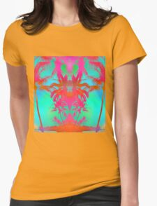Tropical Walks Womens Fitted T-Shirt