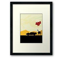 Fury Road - silhouette Framed Print
