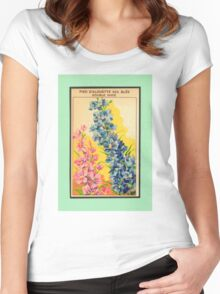 Vintage French Seed Packet Women's Fitted Scoop T-Shirt