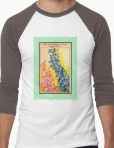 Vintage French Seed Packet Men's Baseball ¾ T-Shirt