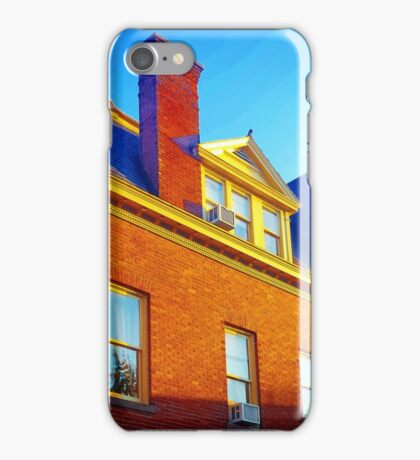 The Sky Paints a Building iPhone Case/Skin