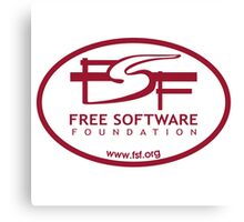 Free Software Foundation Canvas Print