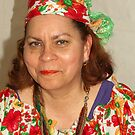 Lady with Curacao traditional headcovering - portrait 1  by steppeland