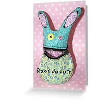 zombie rabbit Greeting Card
