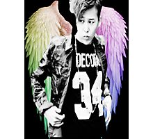 Jiyong w/ Angel Wings  Photographic Print