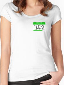 Kiss me, I'm Irish Women's Fitted Scoop T-Shirt