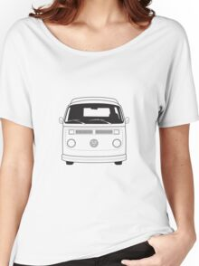 Late Bay VW Camper Line Art Women's Relaxed Fit T-Shirt