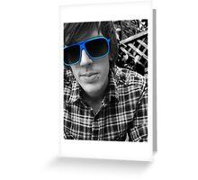 Blue Self Portrait Greeting Card