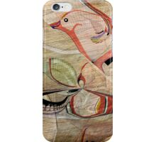 Bird in Hand Abstract: Digital illustration by Alma Lee iPhone Case/Skin
