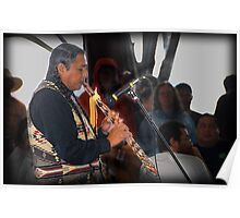 Flute Player (Pow Wow Series) Poster