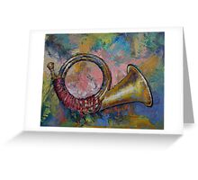 Hunting Horn Greeting Card