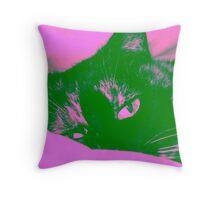 Mollie Cat Throw Pillow