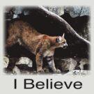 MT Lion - I Believe Watercolor by Wayne King