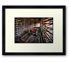 Going to Hell in a handcart Framed Print