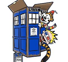 Calvin And Hobbes Tardis dr Who Funny Time by BotokPetet