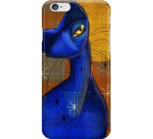 Moonlight Serenade: Cat, Mid Century Modern, by Alma Lee iPhone Case/Skin
