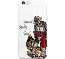 Rocket to the knee iPhone Case/Skin