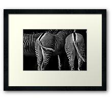 Stripey Behinds Framed Print
