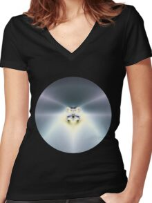 Blue Space Women's Fitted V-Neck T-Shirt