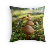 First come, first served Throw Pillow