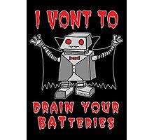 Robot Vampire Photographic Print
