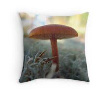 Enchanted mushroom Throw Pillow