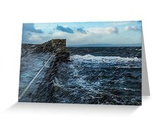 Saltcoats Harbour Greeting Card