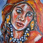 Blue Eyed Gypsy Woman by Reynaldo