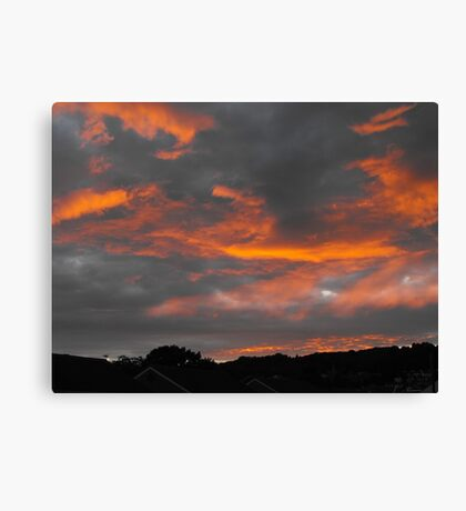 The Evening Ends Canvas Print