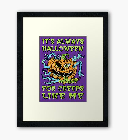 Halloween Creep Framed Print