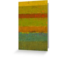 Teal and Chartreuse Layers Greeting Card