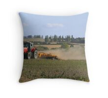 Farm Worker Throw Pillow
