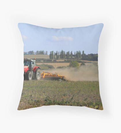 Farm Worker Throw Pillow