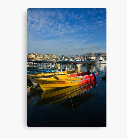 Mexican Boats Canvas Print